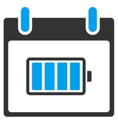 Battery Calendar Day Toolbar Icon vector image