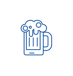 beer line icon concept beer vector image