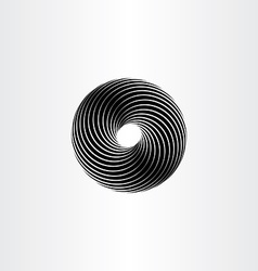 black circle spiral design element vector image
