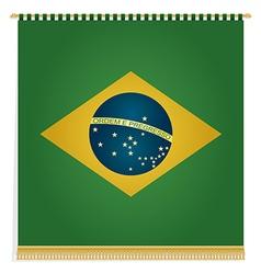 Brazil flag banner vector