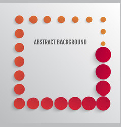 bright abstract background with circles vector image