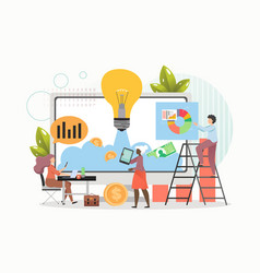 business project startup people investing money vector image