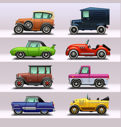 Car icon set-9 vector