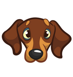Cartoon of dog vector
