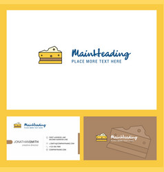 cheese logo design with tagline front and back vector image