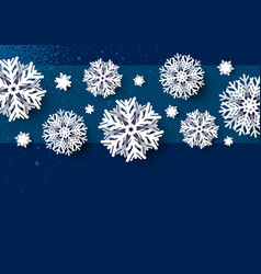 christmas card design white snowflake vector image