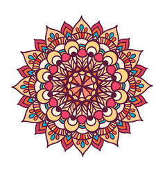Color ornament mandala vector