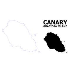 Contour dotted map graciosa island vector