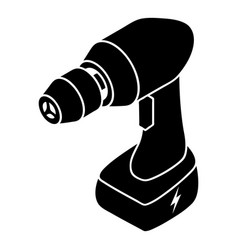 Cordless drill icon simple style vector