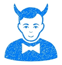 Devil Grainy Texture Icon vector