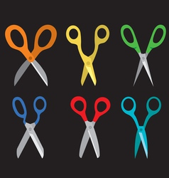 Different Open Scissors Set Style vector image