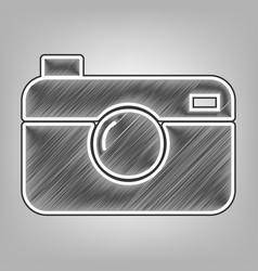 digital photo camera sign pencil sketch vector image