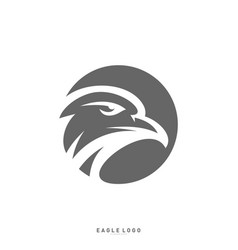 eagle logo design template head eagle concept vector image