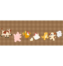 Farm critters set vector image