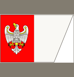 Flag of greater poland voivodeship in poland vector