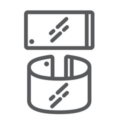 Flexible smartphone line icon gadget and vector