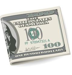 Folding dollars vector image