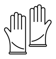 forensic lab gloves icon outline style vector image