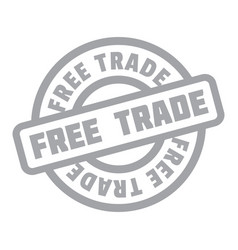 free trade rubber stamp vector image