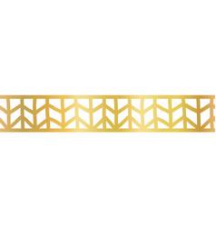 geometric gold foil seamless border golden vector image