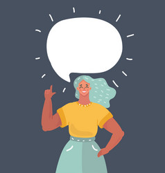 girl talking something vector image