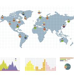 grey world round infographic infographic vector image