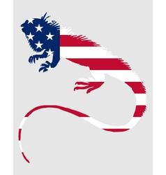 Iguana united states of america vector