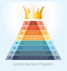 infographic success business modern template vector image