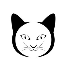 isolated cat outline vector image