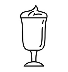 latte coffee glass icon outline style vector image