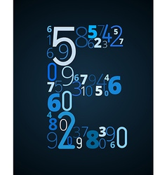 Letter E font from numbers vector