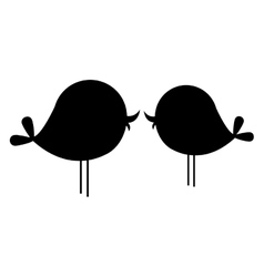 Lovebirds cartoon icon image vector