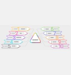 modern neon thin line infographic template ten vector image