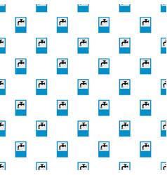 Open water tap pattern seamless vector