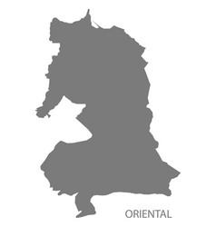 Oriental morocco map grey vector