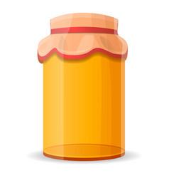 packed honey jar icon cartoon style vector image
