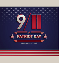 patriot day usa september 11 2001 united vector image