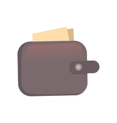 Purse Finance bag flat icon vector image