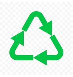 Recycling eco icon green triangle arrow bio vector