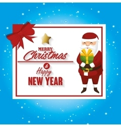 santa claus merry christmas card isolated design vector image vector image