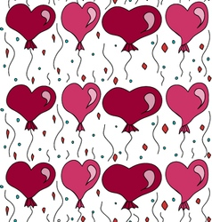 seamless pattern with balls in the form of hearts vector image