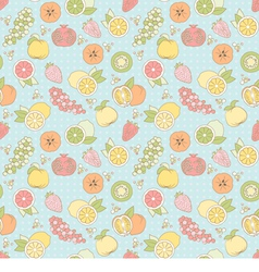 seamless pattern with fruits and berries vector image vector image