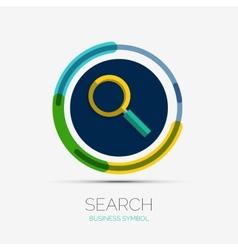 Search icon company logo minimal design vector