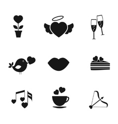 Set love and romance icons vector