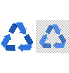 set of blue recycling icons vector image