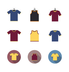 set of colored sport t-shirts vector image