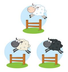 Sheep cartoon character set 6 collection vector