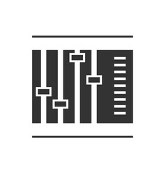 sliders and faders vector image