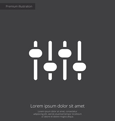 sound mixer premium icon vector image