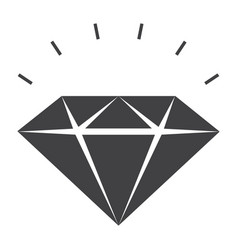 Sparkling diamond icon vector